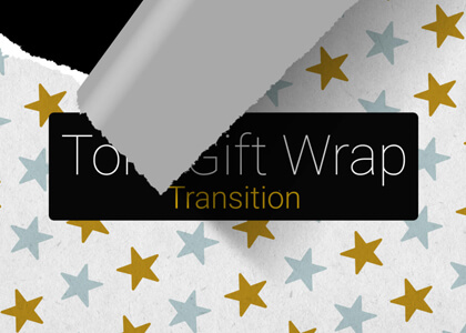 Torn Gift Wrap Paper Transition Premier Pro MOGRT Feature