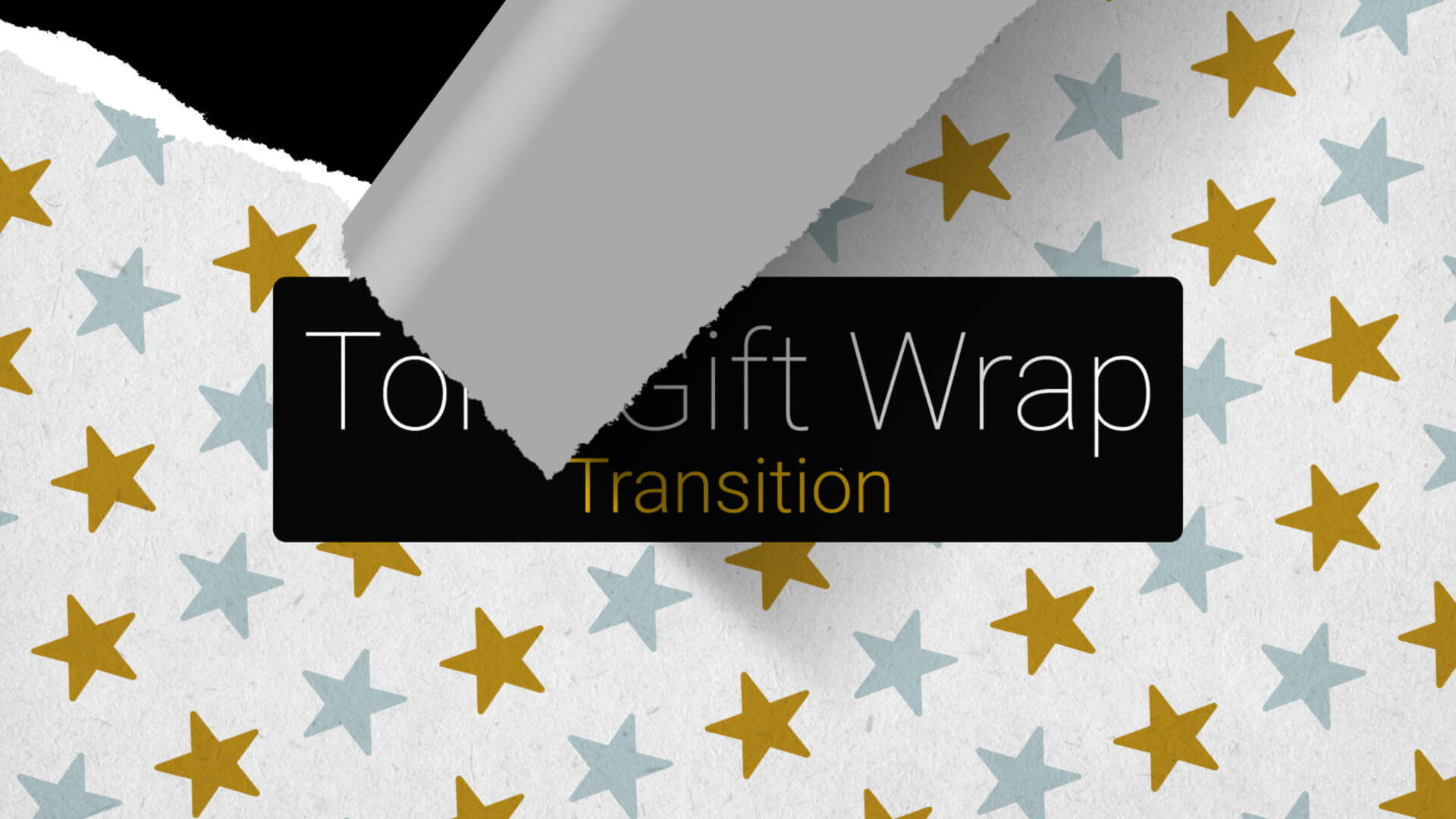 Torn Gift Wrap Paper Transition Premier Pro MOGRT Template