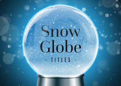 Winter Snow Globe Journey Titles Premier Pro MOGRT Feature