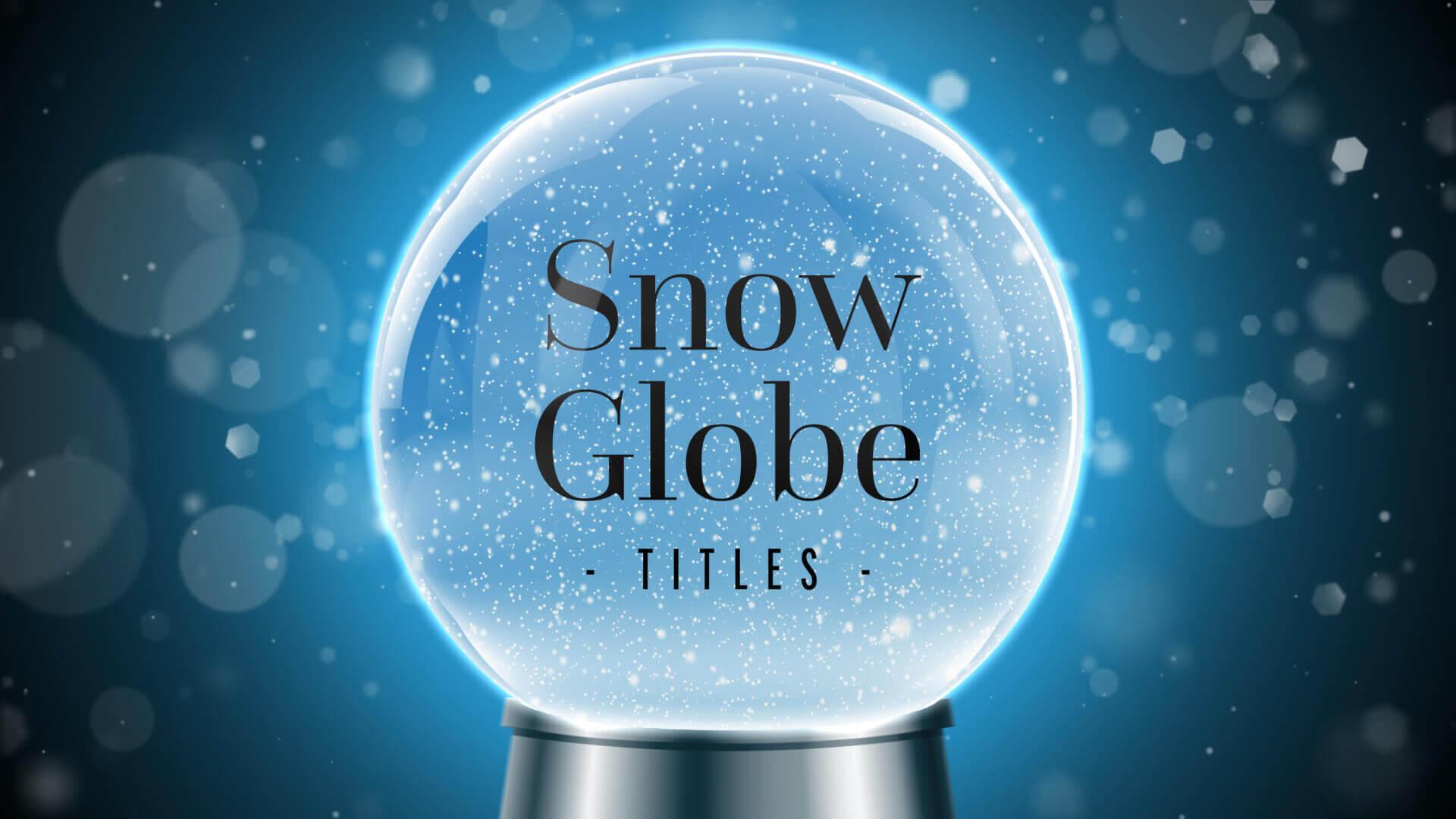 Winter Snow Globe Journey Titles Premier Pro MOGRT Template