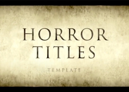 Horror_Titles After Effects Template
