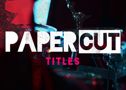 Paper Cut Titles After Effects Template
