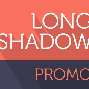 Long_Shadow Text Promo After Effects Template