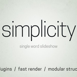 Simplicity After Effects Template