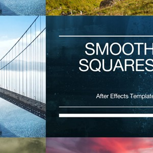 Smooth Squares Slideshow After Effects Template