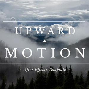 Upward Motion Slideshow After Effects Template