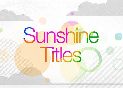 Sunshine_Titles After Effects Template