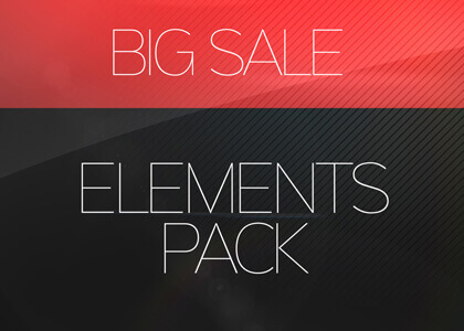 Big Sale Promo Elements After Effects Template