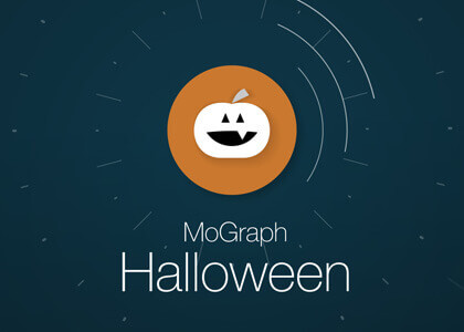 MoGraph Halloween Message After Effects Template