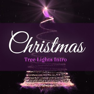 Christmas Tree Lights After Effects intro logo reveal template