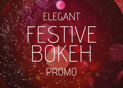 Elegant Festive Bokeh After Effects titles template