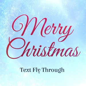 Merry Xmas Text Flythrough After Effects titles template