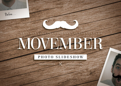 Movember Slideshow Feature After Effects slideshow template