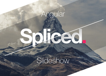 Spliced Angular After Effects slideshow template