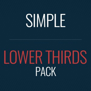 Simple Lower Thirds After Effects template