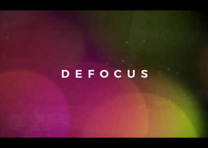 Defocus Title Sequence After Effects template
