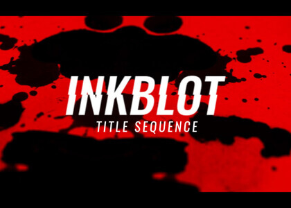 Inkblot_Title_Sequence After Effects template
