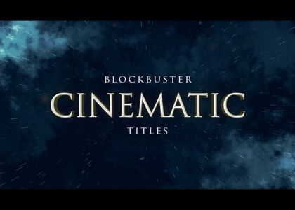 Cinematic Titles After Effects template