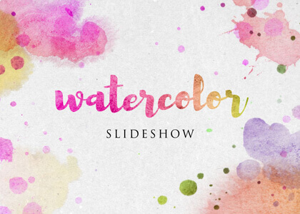 Watercolor-Slideshow After Effects template