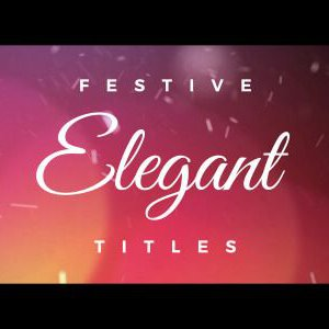 Elegant Festive After Effects titles template