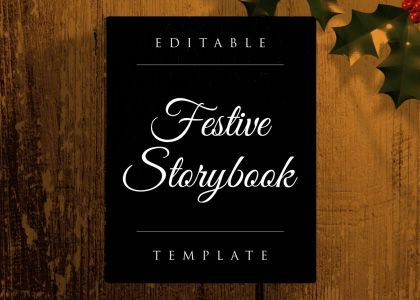 Festive Storybook After Effects template