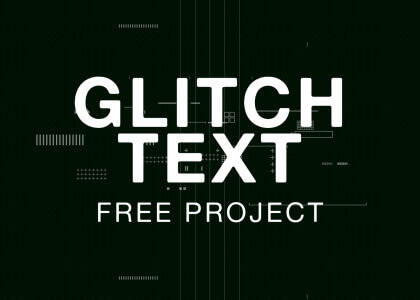 Glitch effect text free After Effects titles template