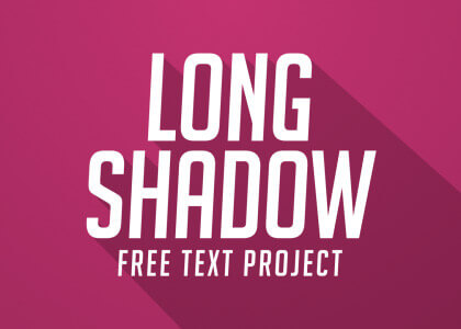 Free long_shadow text After Effects titles template