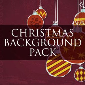 Paper Christmas video background pack