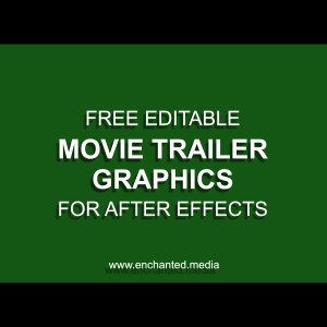 Movie Trailer Graphics – Free After Effects Project