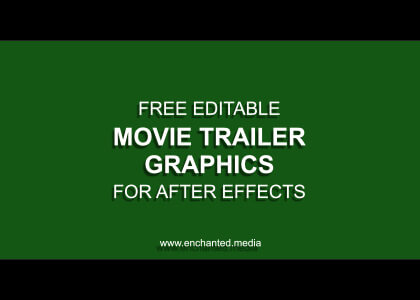 Movie Trailer Graphics After Effects Template