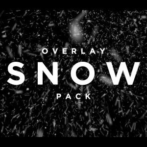 Snow particle overlay video effect pack