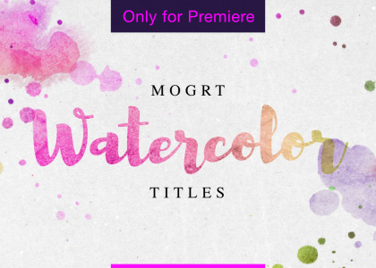 Watercolor Titles Motion Graphics Template for Premiere Pro