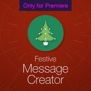 Festive Message Motion Graphics Template for Premiere Pro