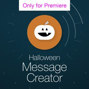 Halloween Message Motion Graphics Template for Premiere Pro