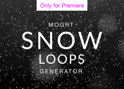 Snow Overlay Motion Graphics Template for Premiere Pro