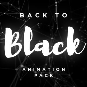 Black abstract backgrounds videos animation pack