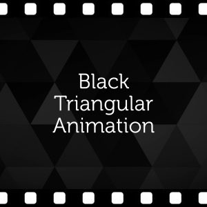 Triangular Black Background – Animated Clip