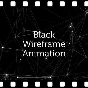 Wireframe Black Background – Animated Clip