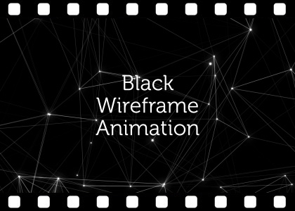 Free black abstract plexus background video animation