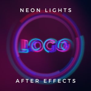 Neon Lights free youtube intro logo reveal After Effects template