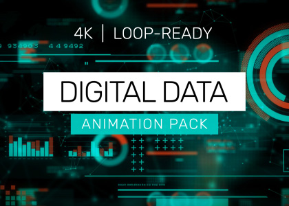 Digital data background video animation pack