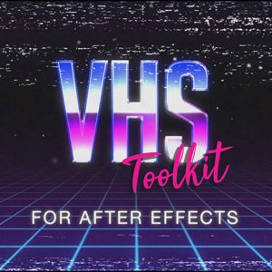 VHS overlay video tracking glitch effects for After Effects