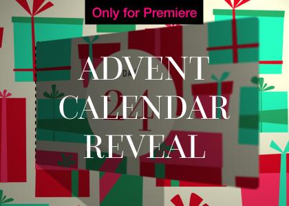 Advent Calendar Word Cloud Motion Graphics Template for Premiere Pro
