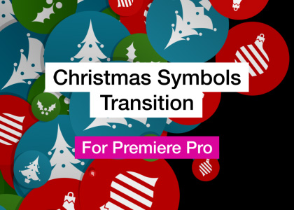 Christmas Symbols Word Cloud Motion Graphics Template for Premiere Pro