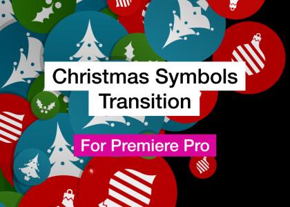Christmas Symbols Word Cloud Motion Graphics Template for Premiere Pro