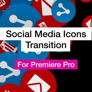 Social Media Transition Word Cloud Motion Graphics Template for Premiere Pro