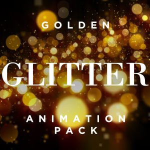 Golden Glitter particle overlay video effect background pack