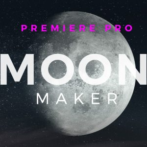 Moon Image Word Cloud Motion Graphics Template for Premiere Pro