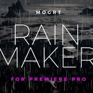 Rain Creator Word Cloud Motion Graphics Template for Premiere Pro