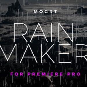 Rain Creator Word Cloud Motion Graphics Template for Premiere Pro